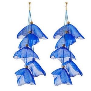 Chiffon blue earrings
